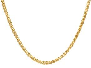 18k Yellow Gold Over Bronze Spiga Bolo Necklace