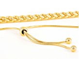 18k Yellow Gold Over Bronze Spiga Bolo Necklace