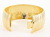 18k Yellow Gold Over Bronze Omega Bracelet