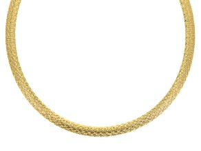 18k Yellow Gold Over Bronze Necklace 18 inch