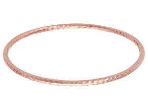 14k Rose Gold Hammered Bangle Bracelet