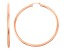 14k Rose Gold 3mm Thick 50mm Classic Hoop Earrings