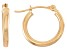 14k Yellow Gold 2mm Thick 15mm Classic Hoop Earrings