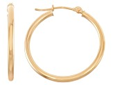 14k Yellow Gold 2mm Thick 20mm Classic Hoop Earrings
