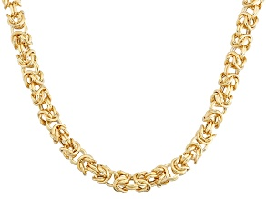 14k Yellow Gold Petite Byzantine Necklace