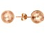 14k Rose Gold 8mm Hammered Ball Earrings
