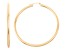 14k Yellow Gold 3mm Thick 55mm Classic Hoop Earrings