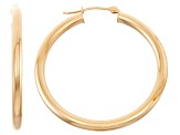 14k Yellow Gold 3mm Thick 30mm Classic Hoop Earrings