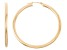 14k Yellow Gold 3mm Thick 45mm Classic Hoop Earrings
