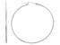 14k White Gold 1.5mm Thick 40mm Hoop Earrings
