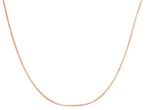 10k Rose Gold Adjustable Box Chain Necklace