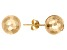 14k Yellow Gold 8mm Hammered Ball Earrings