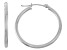 14k White Gold 2mm Thick 20mm Classic Hoop Earrings