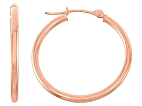 14k Rose Gold 2mm Thick 25mm Classic Hoop Earrings