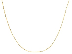 10k Yellow Gold Adjustable Box Chain Necklace