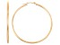 14k Yellow Gold 2mm Thick 50mm Classic Hoop Earrings