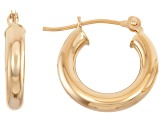 14k Yellow Gold 3mm Thick 20mm Classic Hoop Earrings