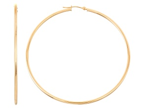 14k Yellow Gold 2mm Thick 45mm Classic Hoop Earrings
