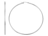 14k White Gold 2mm Thick 45mm Classic Hoop Earrings