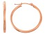 14k Rose Gold 2mm Thick 20mm Classic Hoop Earrings