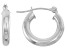 14k White Gold 3mm Thick 20mm Classic Hoop Earrings