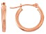 14k Rose Gold 2mm Thick 15mm Classic Hoop Earrings