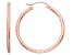 14k Rose Gold Diamond Cut Hoop Earrings