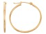 14k Yellow Gold 1.5mm Thick 30mm Hoop Earrings