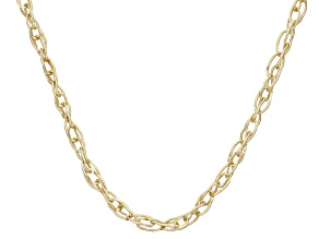 14k Yellow Gold Lightweight 18 inch Link Chain