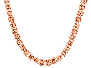 14k Rose Gold Petite Byzantine Necklace