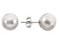 10k White Gold 6mm High Polish Ball Earrings