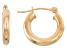 14k Yellow Gold 3mm Thick 15mm Classic Hoop Earrings