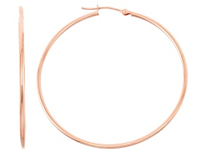 14k Rose Gold 1.5mm Thick 45mm Hoop Earrings
