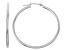 14k White Gold 2mm Thick 30mm Classic Hoop Earrings