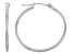 14k White Gold 1.5mm Thick 30mm Hoop Earrings