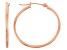 14k Rose Gold 1.5mm Thick 25mm Hoop Earrings