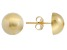 14k Yellow Gold 8mm High Polish Half-Ball Earrings