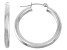14k White Gold 3mm Thick 25mm Classic Hoop Earrings