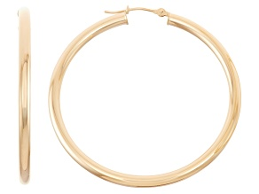 14k Yellow Gold 3mm Thick 40mm Classic Hoop Earrings