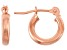 14k Rose Gold 2mm Thick 13mm Classic Hoop Earrings