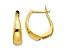 10k Yellow Gold Polished Hoop Earrings