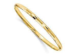 10k Yellow Gold Polished Bangle Bracelet