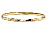 10k Yellow Gold Polished Bangle Bracelet