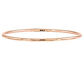 10k Rose Gold Slip-On Bangle Bracelet 7 inches