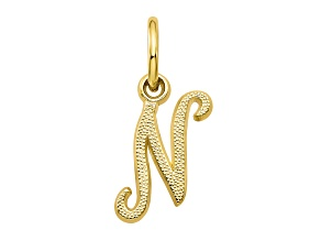 10k Yellow Gold initial N Charm