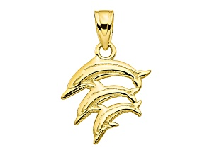 10k Yellow Gold Dolphin Charm