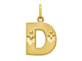 10k Yellow Gold initial D Charm