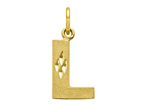 10k Yellow Gold initial L Charm