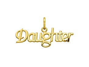 10k Yellow Gold Daughter Charm