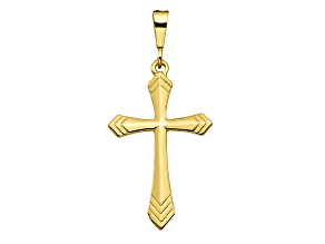 10k Yellow Gold Cross Charm